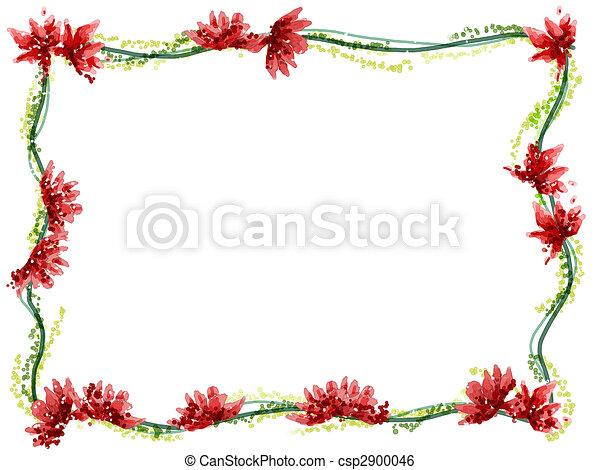 illustration de aquarelle cadre fleur aquarelle dessin de fleur csp2900046. Black Bedroom Furniture Sets. Home Design Ideas
