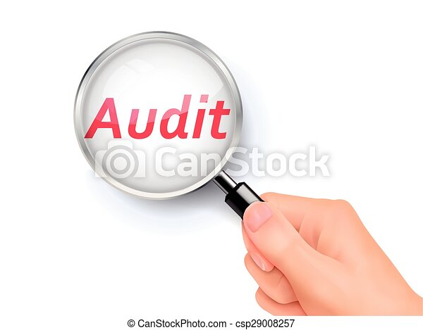 Audit Magnifying Glass Clip Art