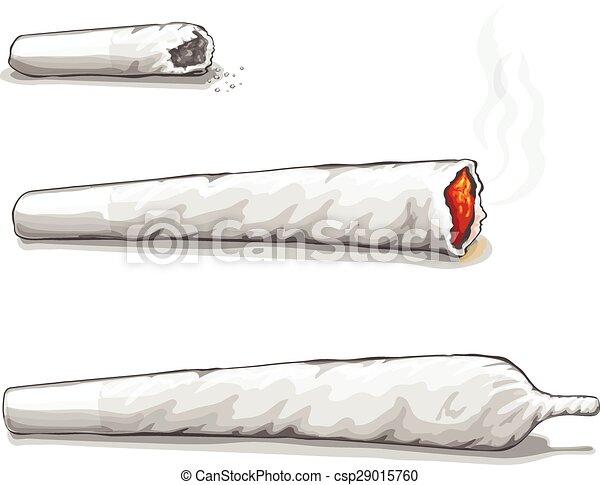 Clip Art Vector of Joint or spliff. Drug consumption ...