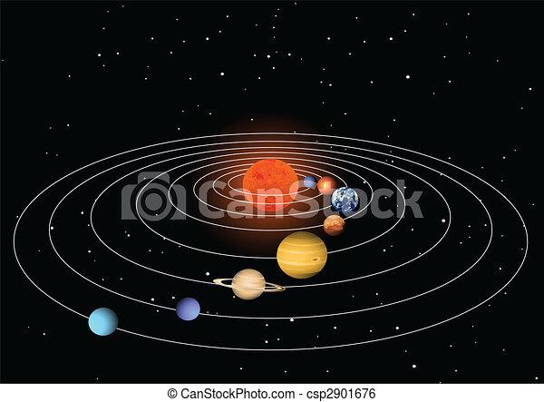 Clip Art Vector Of Solar System Csp2901676 Search