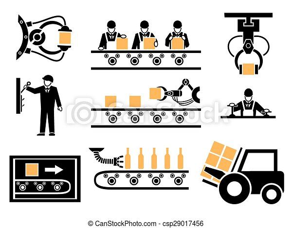 Clipart Vector of Manufacturing process or production ...