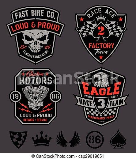 Motor racing emblem set - csp29019651