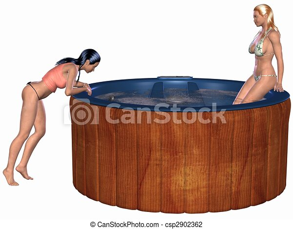 Hot Tub Drawings Hot Tub 3d Render of an Hot
