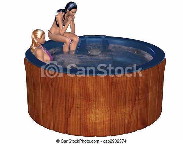 Hot Tub Drawings Hot Tub Csp2902374
