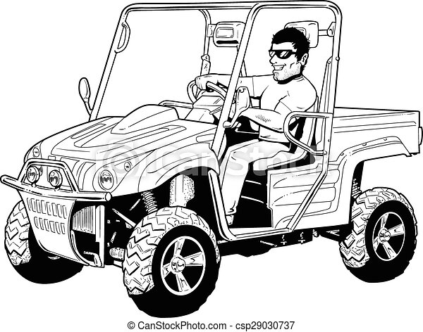 Vectors of 4 wheeler side by side off road 4x4 side by for Side by side einbauger t