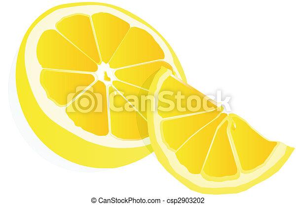 Lemons illustration over white... - csp2903202