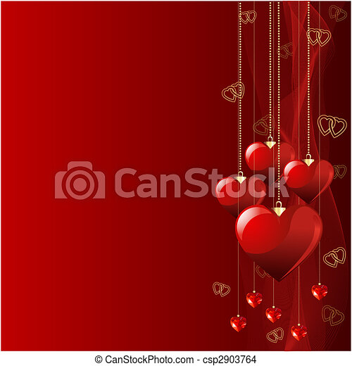 Beautiful Valentine background. - csp2903764