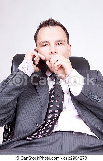 Portrait of business male model.