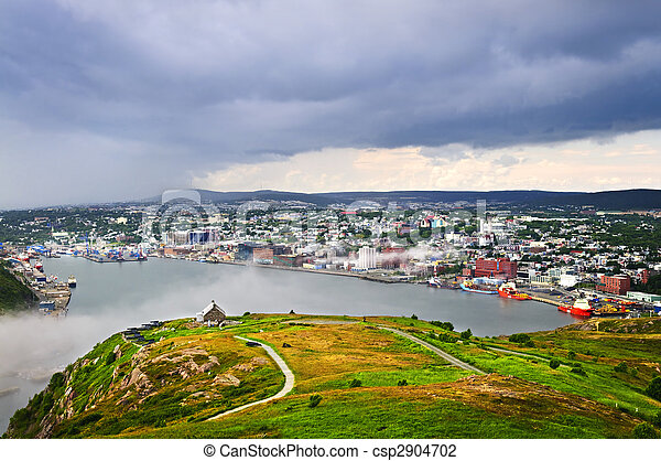 Cityscape of Saint John\'s from Signal Hill - csp2904702