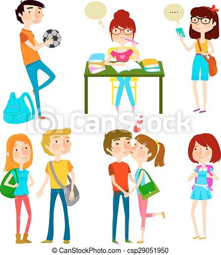 happy teens - csp29051950