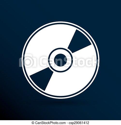 Vector Clip Art of Vector CD or DVD icon disc vector compact disk ...