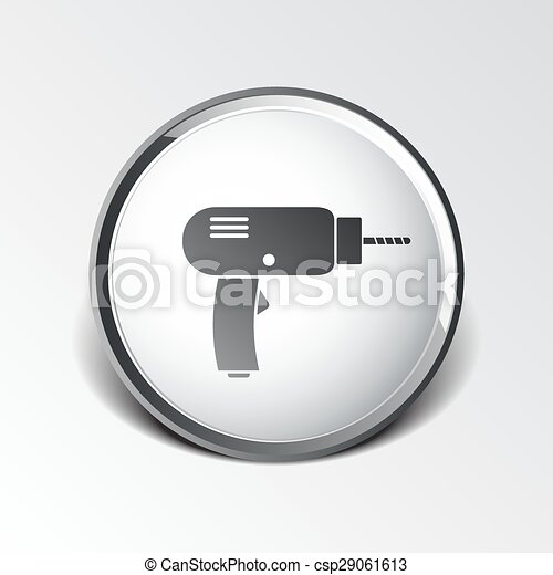 Power Tool Drawings Drill Icon Power Tool Vector