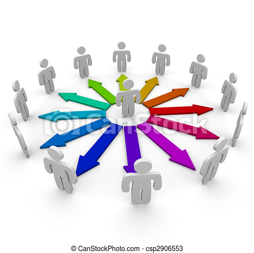 Connections in a Network of People - csp2906553