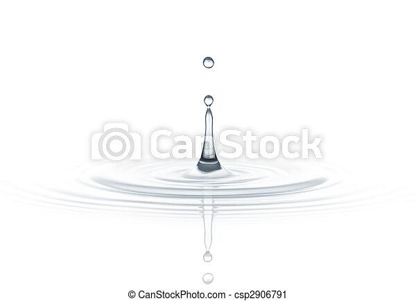 水, 下降 - csp2906791