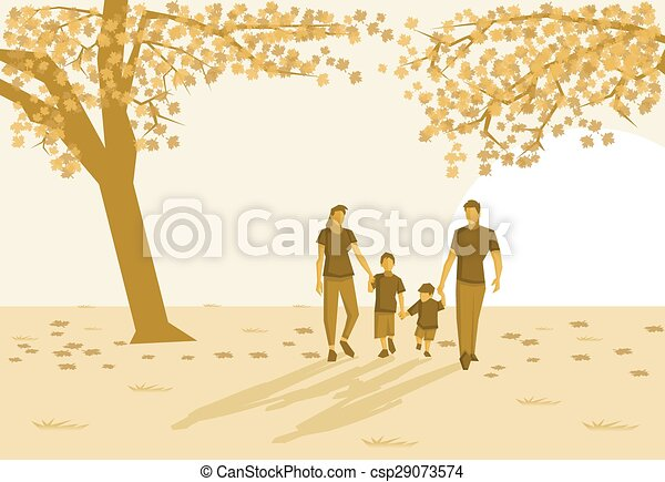 Family in the park  - csp29073574