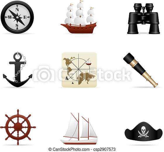 Naval Voyage Icon Set - cs