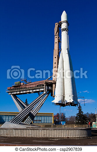 Space rocket - exposition on VDNH. Moscow - csp2907839