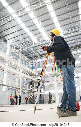 engineer survey in factory