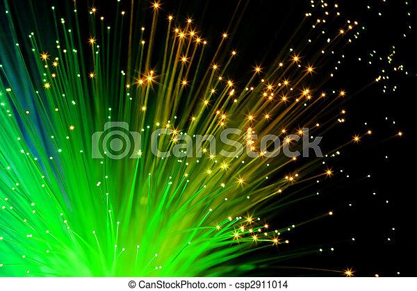grün, Optisch, Fasern - csp2911014