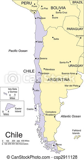 Chile and Surrounding Countries - csp2911128