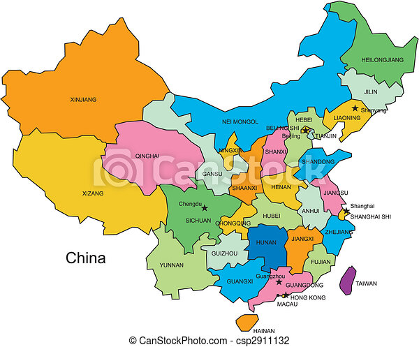China with Administrative Districts - csp2911132