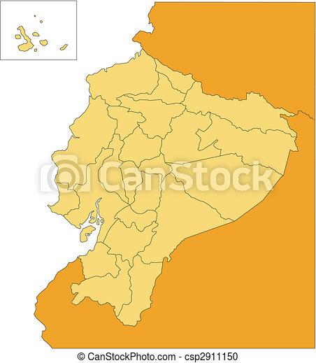 Ecuador Vector Ecuador Editable Vector Map