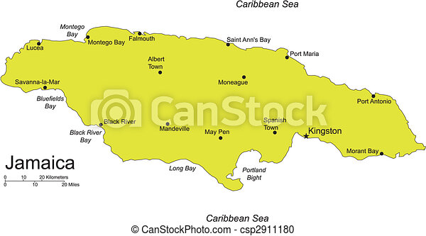 Jamaica, Island, Caribbean Sea - csp2911180