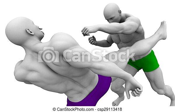 Martial Arts Training - csp29113418