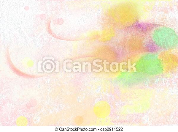 crayon painting - csp2911522