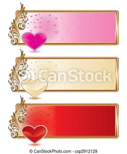 Valentine banner set - csp2912129