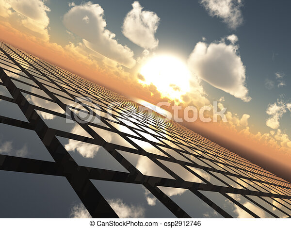 Abstract Background Grid Horizon - csp2912746