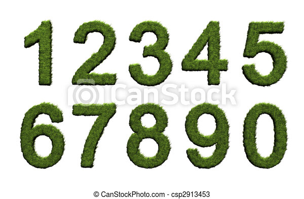 Grass numbers - csp2913453