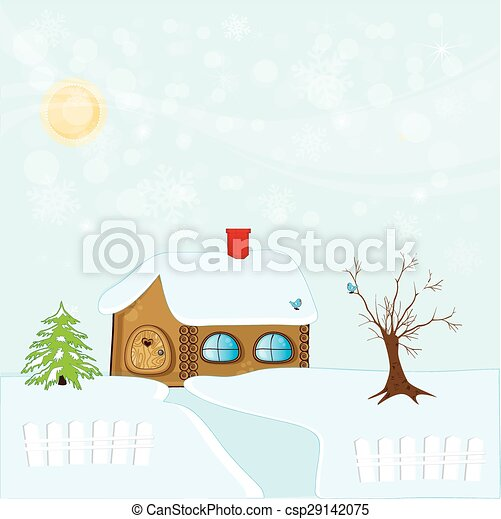 winter_house - csp29142075