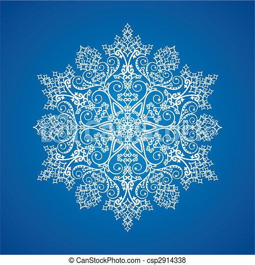 Single detailed snowflake - csp2914338