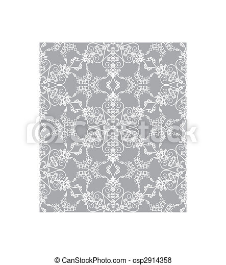 Snowflakes on silver background - csp2914358