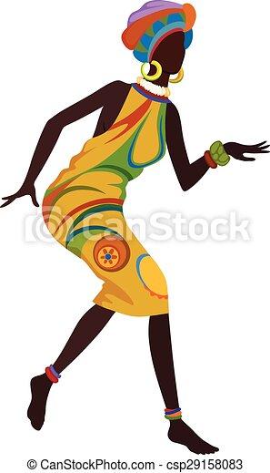 Vecteur de danse femme ethnique africaine africaine femme danse csp29158083 - Dessin africaine ...