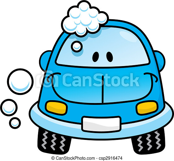 Car wash blue vector - csp2916474