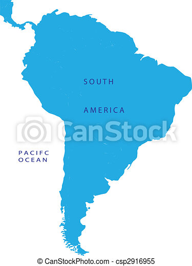 Political map of South America - csp2916955