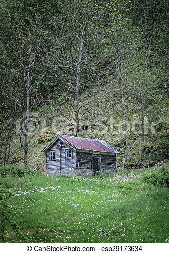 old shack in the hills - csp29173634