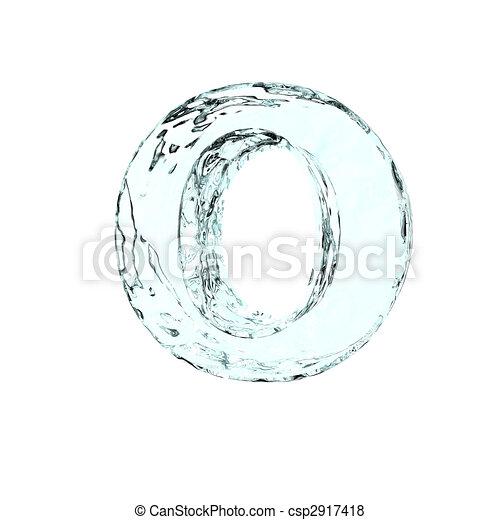 frozen letter O - csp2917418