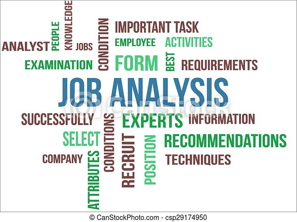 Clipart Vector Of Job Analysis  A Word Cloud Of Job Analysis