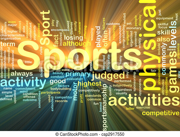Sports activities background concept glowing - csp2917550