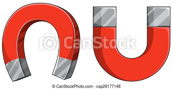 EPS Vector of Magnet - U shape of magnet in red color csp29177148 ...