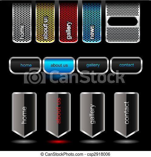 Editable website vector buttons - csp2918006