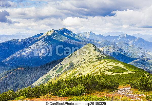 Carpathian autumn landscape