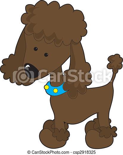Illustrations de brun caniche a brun dessin anim caniche isol sur csp2918325 - Dessin caniche ...