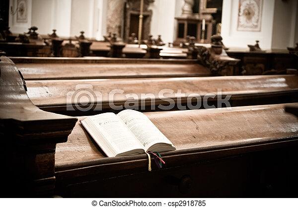 Hymnal in Church - csp2918785