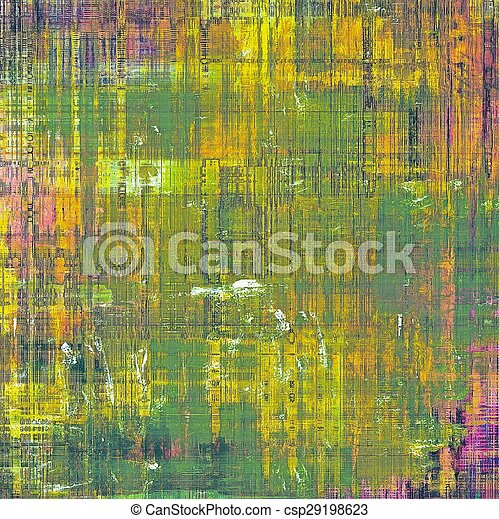 Antique grunge background with space for text or image. With different color patterns: yellow (beige); brown; green; purple (violet)