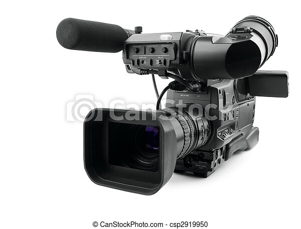 Professional digital video camera - csp2919950