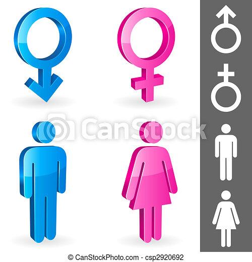Gender symbols. - csp2920692